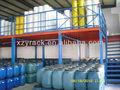 Estructura de plataforma de acero para bodega de almacenamiento