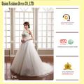Brillante! Pizzo bianco abito da sposa da sposa favorire le foto di abiti da sposa bellissima
