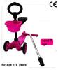 Kids Rocket Mini T-Bar 3 Wheel Tri Push Scooter - Girls Pink Scooter