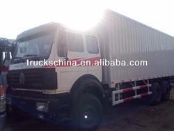 6x4 336hp Beiben Cargo Truck Van Truck 45m3