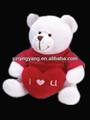 nueva llegada de día de san valentín regalos de lindo y barato de peluche de felpa oso de peluche blanco con el corazón