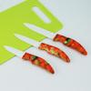 """3""""4""""5''Chinoiserie ceramic fruit knife"""
