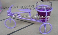 Fashionable & Promotional Metal stool with glass candel holder