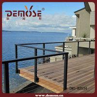 modern bamboo deck railing