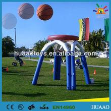 8 feet tall airtight inflatable basketball goal for sale