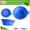 Reusable Food Grade Collapsible Silicone Pet Food And Water Bowl, Covered Pet Food Bowl