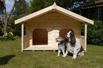 Large Sunmmerhouse Dog Kennel / Dog House Cage with Porch
