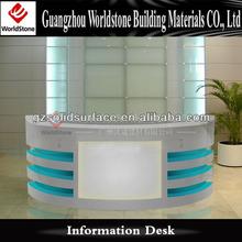 simple modern carved reception desk furniture