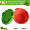 Reusable Food Grade Collapsible Silicone Pet Travel Water Bottle Bowl, Plastic Pet Bowl