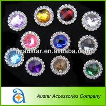 Decorative rhinestone button covers for garment accessory