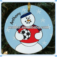 2013 Snowman&Football Dollar Tree Christmas Ornaments For Outdoor Tree Hanging Items