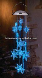 Solar Snowflake Icicle Dangler Mobile