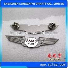 Die Struck Custom Silver Pilot Metal Wing Badge Gold Plated Metal Military Wing Pins,Eagle Lapel Pin
