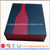 Paper cardboard wine gift box with die-cut shape