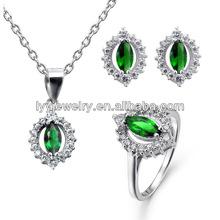 wholesale valentine's gift new blue jade jewelry set