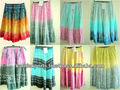 Hulla hoop saias de algodão tie dye& dança saias para mulheres e meninas, funcional saias para mulheres, saia saias