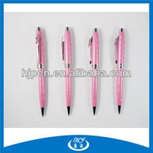 Pink Ribbon Emblem On Clip Metal Pen Elegant Ballpoint Pen