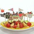 atualizado criativo de natal decoração de festa de frutas pick