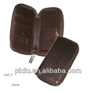 handmade brown leather zipper coin purse factory price