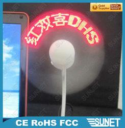 Flexible fan -- Adjustable, Display customer's slogan