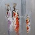 modern Afrika kadınlar tuval üzerine yağlıboya