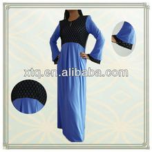 Nouveau élégant dentelle tricotée mode musulmane robe 2013