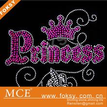 iron on glitter Princess rhinestone transfer