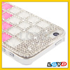 New arrival Stair-stepping Style Diamond Encruted Crystal Case for iPhone 5S &for 5 (Magenta)