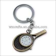 custom shape Racket clock keychain