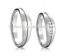 Infinity Journey Forever Love Silver Plated Mens Women Promise Ring Couple Wedding Bands