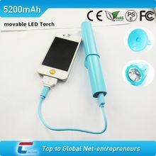 LED light unique moblie power bank 5200mah for smartphone
