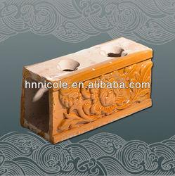 Chinese classical glazed golden roof flower ridge