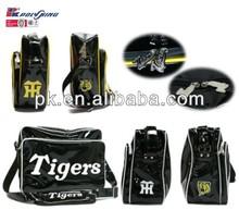 Brand name men shoulder bag export to Japan,black PVC leather shoulder bag(PK-10430)