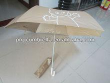 Three folding super light aluminium Advertising promotion brand umbrella