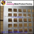 Carrée trou perforé feuille d'aluminium usine( prix bas et de haute qualité)