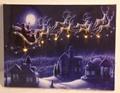 Peinture décorative de noël, décoratifs de noël art peinture à l'huile, de haute qualité pure main- peint murs de l'hôtel sont parties à la maison