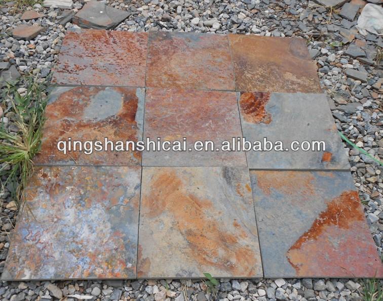 China pizarra oxidada 16 en x 16 en la tierra acabado - Piedra pizarra oxidada ...
