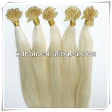virgin remy italian glue Prebond hair nail tip BeautymaxHair 5a grade