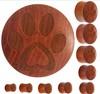 Organic Sawo Wood Pet Love Paw Print Saddle Plug