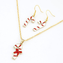 Christmas motif ornaments New 2013 promotion Christmas stick Set Necklace And Earrings