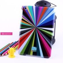 Fancy designed sporadic colors pc imd hard plastic mini laoptop case for ipad mini