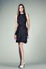 elegent royal blue boat neck knee length sleeveless layered custom make evening dress TM1339 2013 new design ladies dress