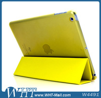 3 Folding Stand Leather Case with Clear Back Cover for iPad Air