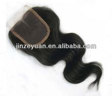 Wholesale stock virgin human hair lace closure