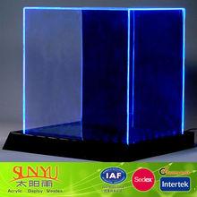 New Clear Cube Acrylic Led Display Box /Customized Acrylic Display Led Light Box