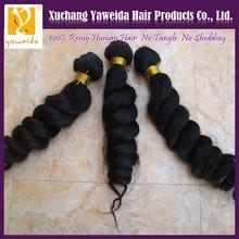 2013 Alibaba China, Tangle free unprocessed pure loose wave brazilian hair weave
