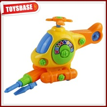 Funny plastic pull line helicopter toys