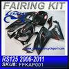 For Aprilia RS125 2006-2011 Motorcycle Fairing Kit all black FFKAP0011