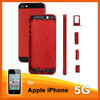 Red color change back cover for iphone 5 back cover housing replacement+ black top & bottom glass