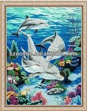 Fish DIY Digital Seascape Oil Paintings as Kids Gift